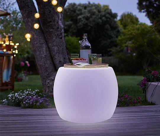 Lampa ogrodowa stolik do domu tchibo solarny LED kolory DESIGN !!