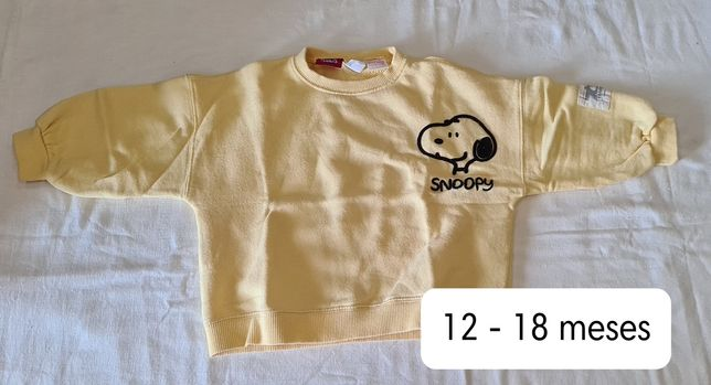 Sweat Snoopy - 12 a 18 meses