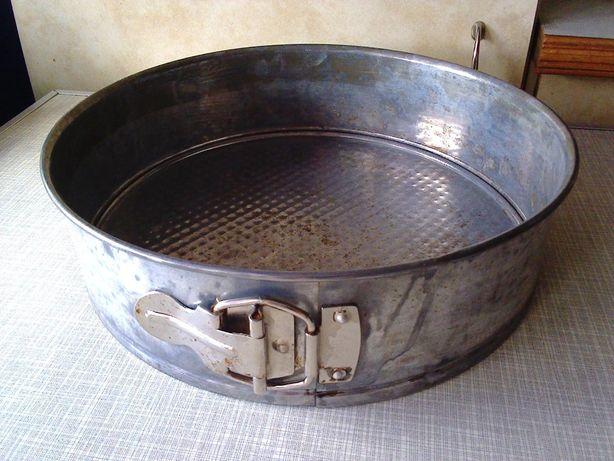 Форма для выпечки (кекс-пирог-шарлотка-чизкейк) съемная, металлическая