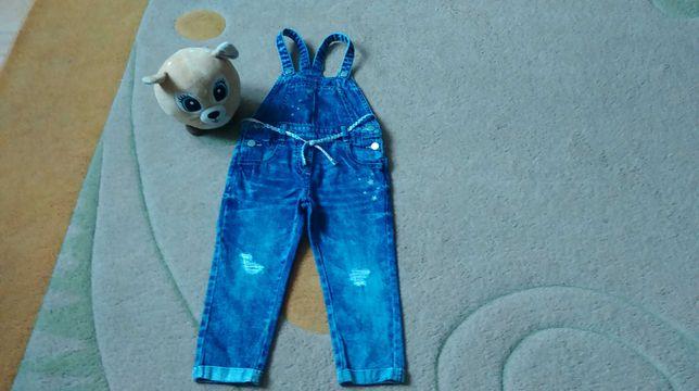 Spodnie ogrodniczki firmy Next rozmiar 92.