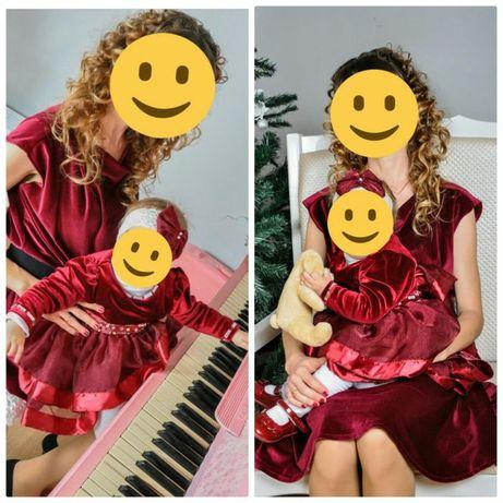 Платье Комплект Мама дочка family look