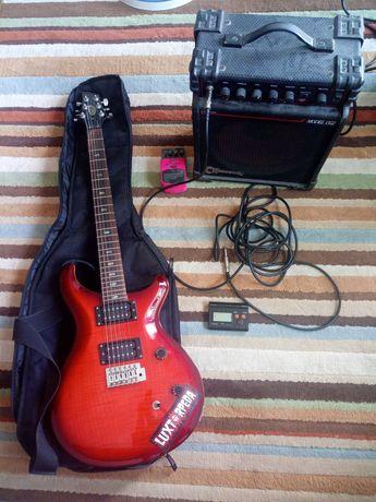 Gitara elektryczna + wzmacniacz. Komplet na start
