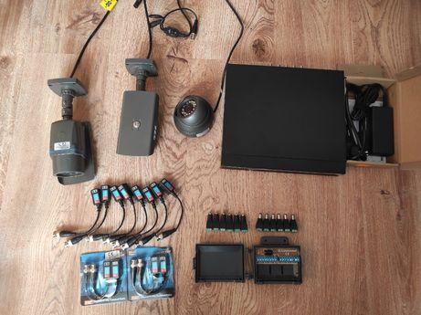 Zestaw monitoringu - Rejestrator - 3 Kamery - Akcesoria - OKAZJA!