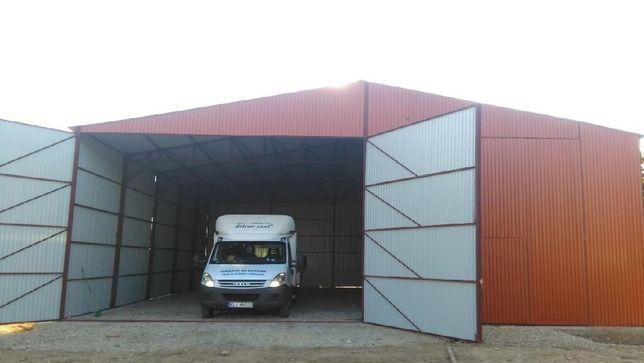Garaż blaszany na maszyny rolnicze wiata 12x12 garaze blaszane