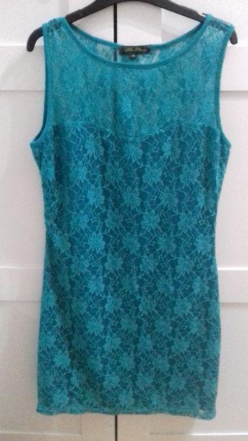 Vestido Miss Harvey turquesa M/L