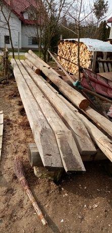 Stare drewno belki ciosane 1920r różne rodzaje i długości