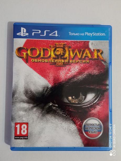 Диск God of war 3 ps4