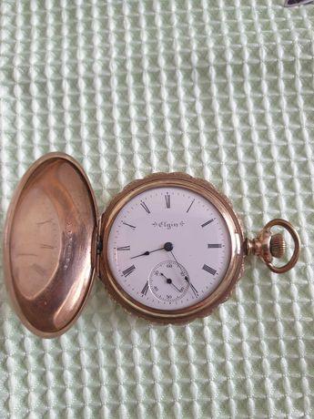 Zegarek kieszonkowy grubo złocony Elgin 15  kamieni