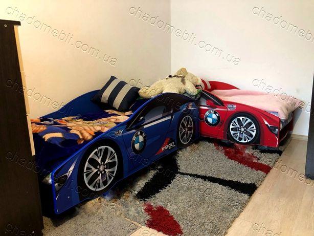 Ліжко машина з матрасом механізмом кровать машина БМВ кроватка 70х155