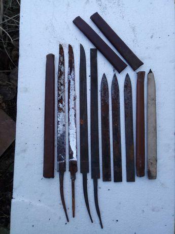Klingi do noży myśliwskich krótkie i długie zahartowane +pochwy