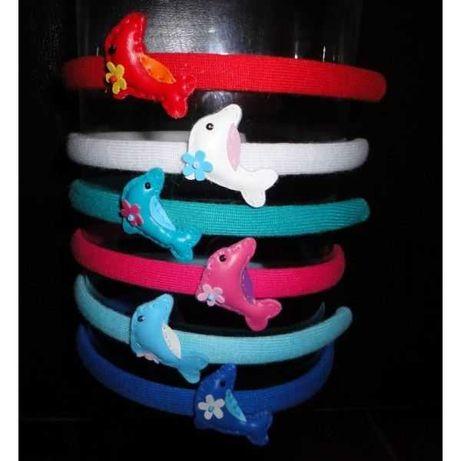 Bandoletes com golfinhos , pintainhos e borboletas