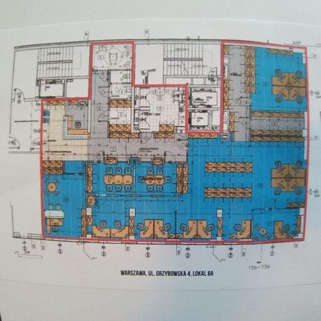 Wynajmę biuro 322 m2 ul. Grzybowska 4, Warszawa – Mokotów