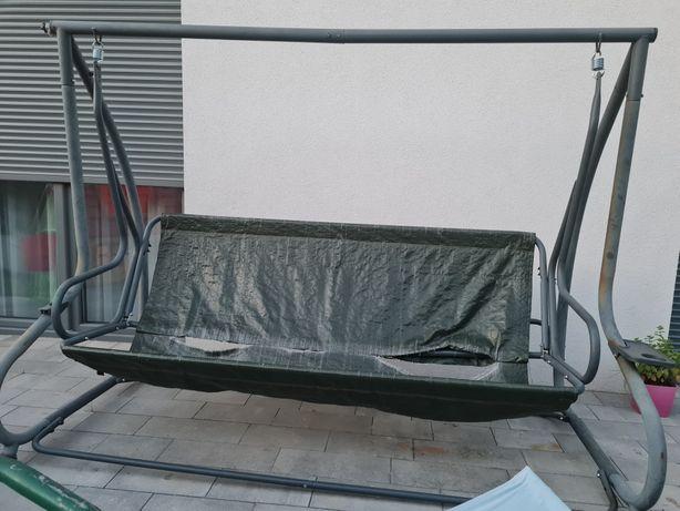 duża solidna huśtawka ogrodowa 230cm 5-osobowa OKAZJA dla zaradnych:)