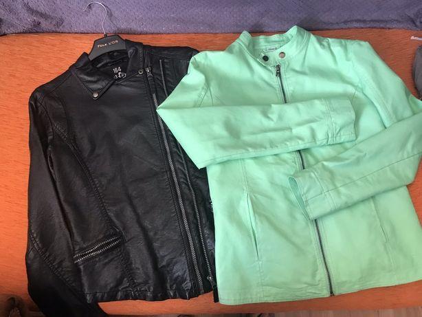 цена за две куртка кожзам 158 164