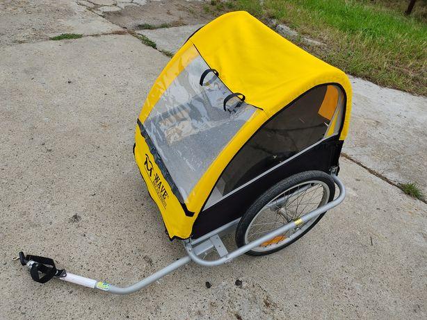 Przyczepka rowerowa riksza Wave do roweru Aluminiowy spód 1-2 dzieci