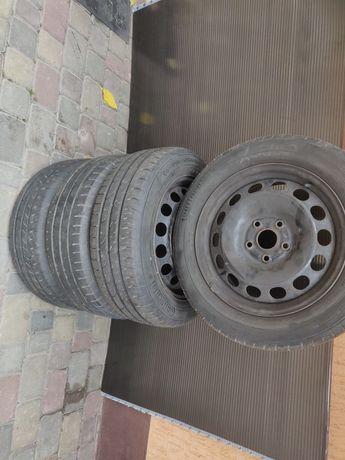 Стальные диски R16 + шины 195 60 16 VW caddy, Passat, Skoda Octavia