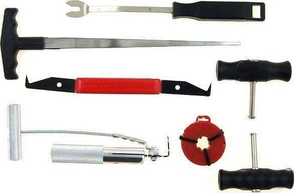 Комплект для снятия стёкол 7 предметов КС-1029 Alloid