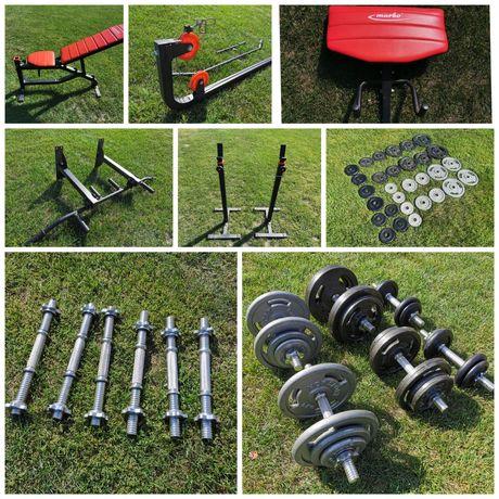 Marbo sport Zestaw komplet siłownia jak nowa ponad 100 kg