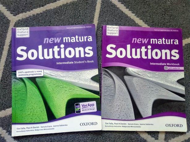 Książka i ćwiczenia j.angielski New matura solutions z płytą CD