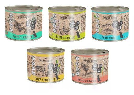 Wiejska Zagroda 200g mokra karma dla psa różne smaki