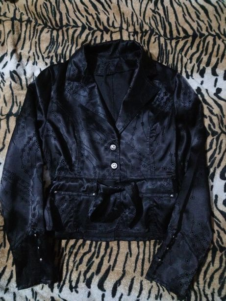 Пиджак жакет женский чёрный, размер 44-46-48.