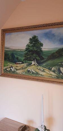 Obraz olejny drzewo krajobraz