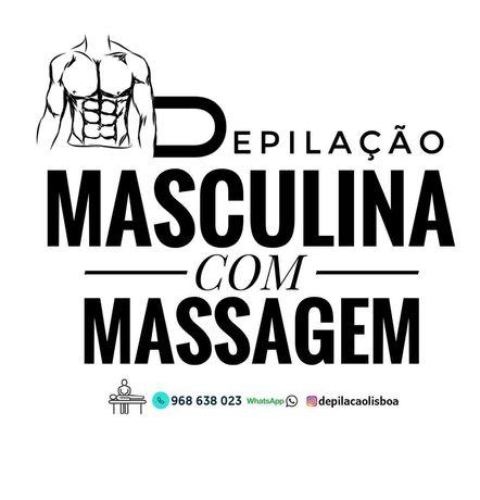 Depilação Masculina a Laser ou Máquina + Massagem Masculina incluída.
