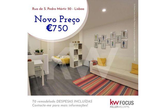 T0 remodelado para ARRENDAR DESPESAS INCLUÍDAS   Mouraria - Lisboa