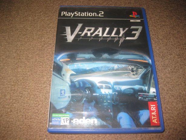 """Jogo """"V-Rally 3"""" PS2/Completo!"""