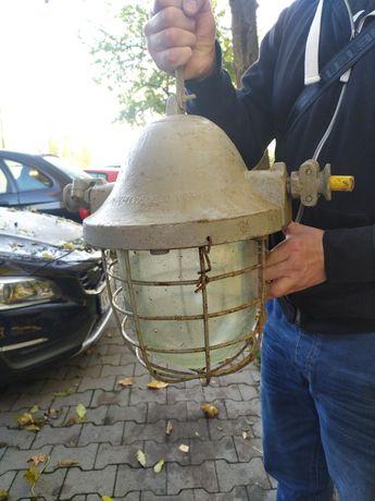 Lampa Industrialna Loft PRL RWUE J.Marchlewskiego
