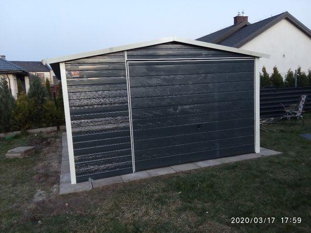 garaż blaszany 4x5 kolor paleta ral do wyboru, dach dwuspadowy