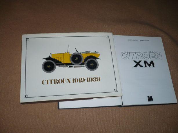 livro raro sobre carros Citroen de 1919 a 1939 e história do XM