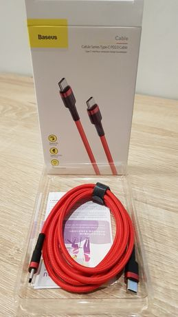 Baseus Kabel Cafule USB Typ C na USB Typ C PD 2.0 60W 3A QC 3.0 2 metr