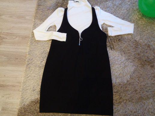 sukienka mini tunika czarna L Zara