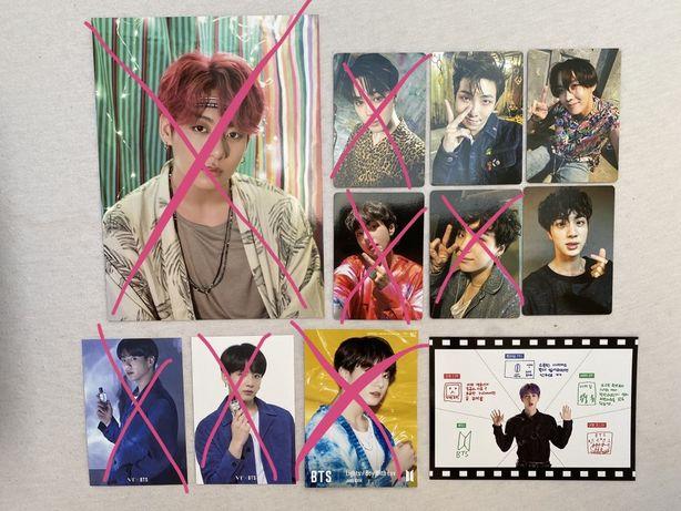 BTS różne oryginalne karty