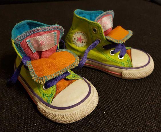 Converse trampki tenisówki all star r 21 5 kolorowe buty wiosna
