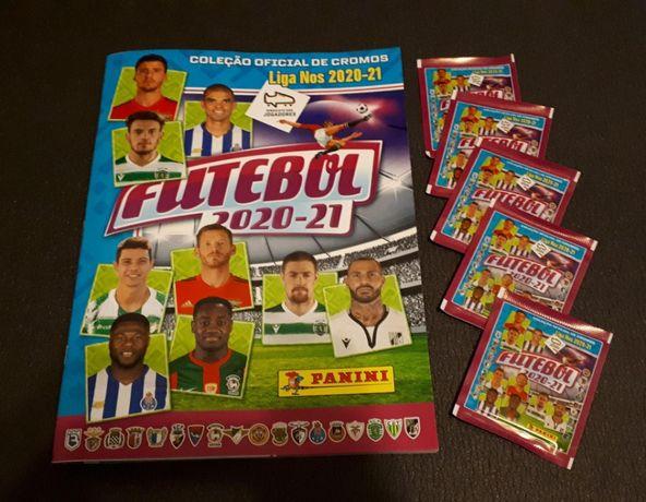Panini Álbum/Cadernetas Vazias + Carteirinhas Seladas Futebol 2020-21