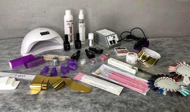 Стартовый набор для маникюра и педикюра лампа Sun5 сан5 фрезер lina 48