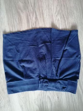 Niebieska mini spódniczka