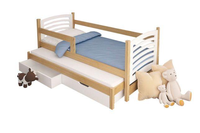 Łóżko podwójne OLI z materacami + szuflady !
