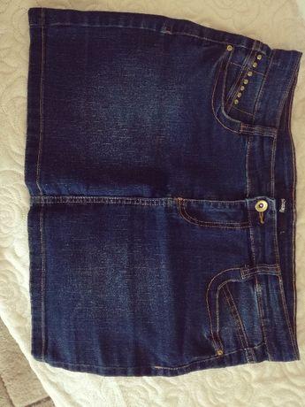Niebieska spódnica jeansowa SINSAY