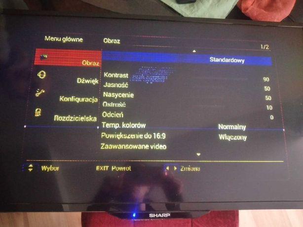 tv telewizor sharp lc 32ld uszkodzony