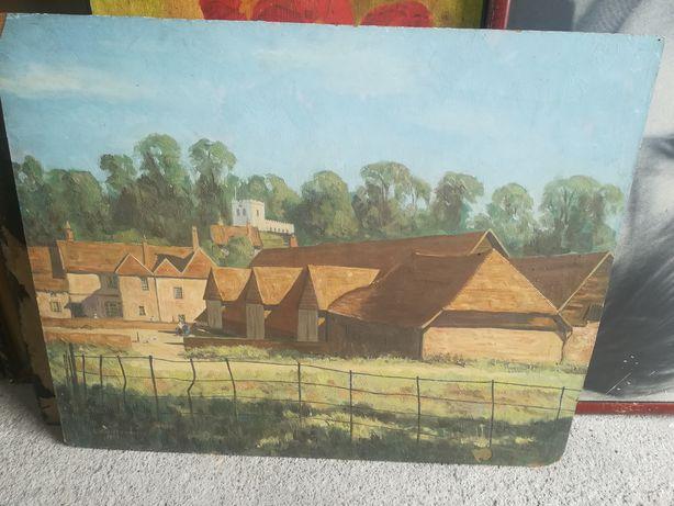 Sprzedam Ładny Stary malowany obraz olejny  Sygnowany 1950r
