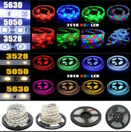 Комплект Светодиодная лента многоцветная 3528 и 5050 комплект 5