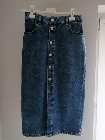 Jeansowa midi spodnica Reserved