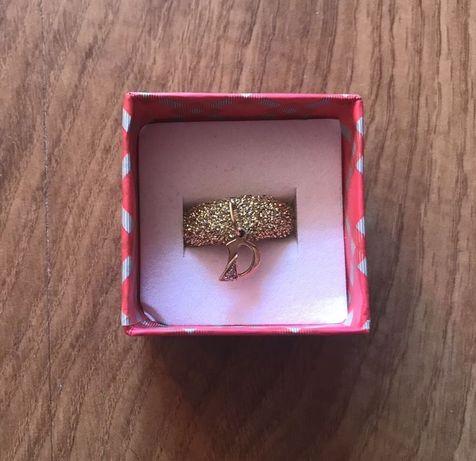 Złota zawieszka wisiorek łańcuszek literka D złoto 585 Apart litera