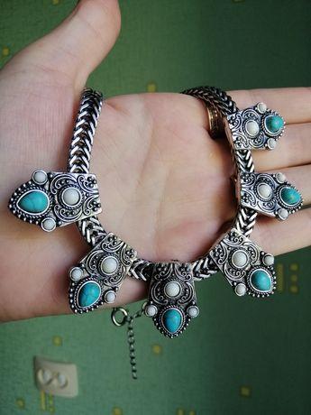 Колье в винтажном стиле. Ожерелье в Бохо стиле.
