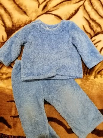 Тёплая пижама на 1-2 года