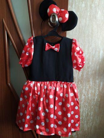 Карнавальный костюм платье Минни Маус для девочки