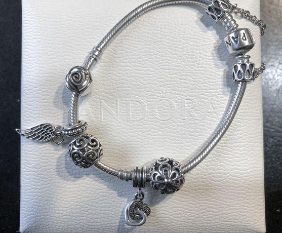Pandora charms zawieszka Splecione serca